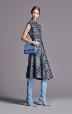 CH would wear this plaid dress everyday. Boots are brilliant too.