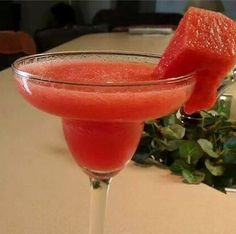WATERMELON MARGARITA 1 cup Seeded & Diced Watermelon 2 oz. (60ml) Silver Tequila 1/2 oz. (15ml) Midori 1/2 oz. (15ml) Lime Juice 1/2 oz. (15ml) Simple Syrup 1 scoop crushed Ice Blend all together.