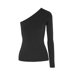 Theory Black One-Shoulder Top