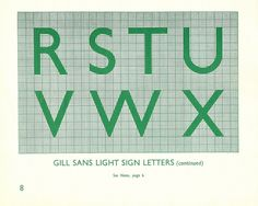 British Railways Standard Signs Manual - Gill Sans Light sign letters - R to X, 1948 by mikeyashworth, via Flickr