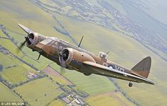 The bomber, pictured, was badly damaged in a crash landing 12 years ago and has been completely rebuilt