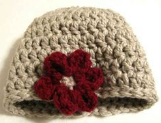 Free Crochet Pattern - One Hour Hat Pattern Design, suppose to be an adult hat but could be easily adjusted with different size hook