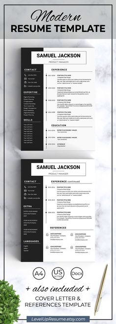 Clean And Simple Resume Template. Professional Resume Design. Career Advice.  Job Search.