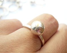 sterling silver ball ring 09 by BIZARREjewelry on Etsy, $34.00