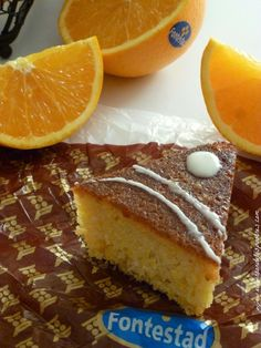 naranja, bizcocho, pastel, cake