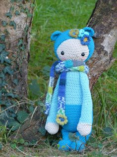 BINA the bear made by Catherine J. / crochet pattern by lalylala