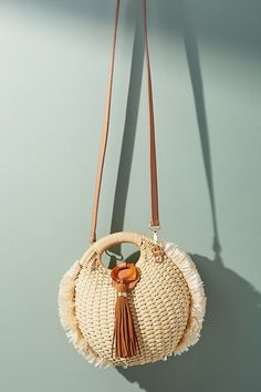 c2cc518e5 Slide View: 1: Pomona Straw Crossbody Bag Summer Purses, Summer Bags, Round