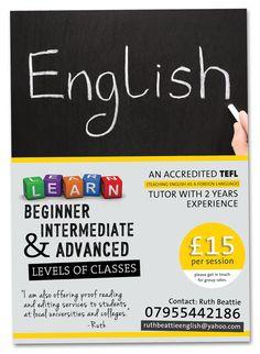 english book english class advance math tutoring flyer english grammar tenses