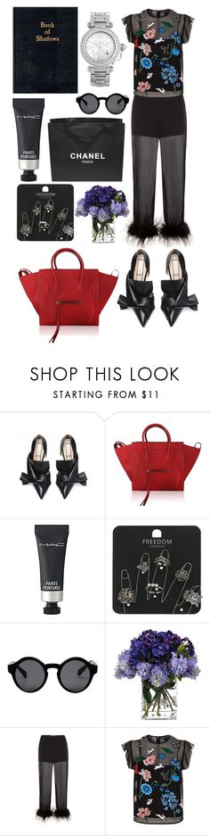 """""""minimal"""" by alxppt ❤ liked on Polyvore featuring CÉLINE, MAC Cosmetics, Chanel, Topshop, Monki, John-Richard, Prada, Markus Lupfer and Cartier"""