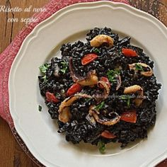Black risotto with cuttlefish by moldilen