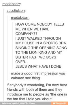"""""""The one in a bra I told you about"""""""