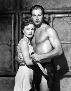 Virginia Huston and Lex Barker in Tarzan's Peril. 1951