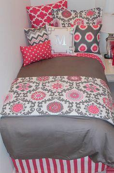 prepare for house tours NOW ~ decor 2 ur door | sorority sugar Designer headboard, custom pillows, exclusive bed scarf, window panels, wall art, bed skirts, duvet (twin, queen, king) and custom monogramming!! Turn your room from drab to fab!! http://sororitysugar.tumblr.com/tagged/decor-2-ur-door?utm_content=bufferc3a4d&utm_medium=social&utm_source=pinterest.com&utm_campaign=buffer