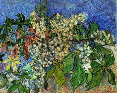 """Vincent Van Gogh   Vincent Van Gogh – """"Rami di castagno fioriti"""" (1890)"""