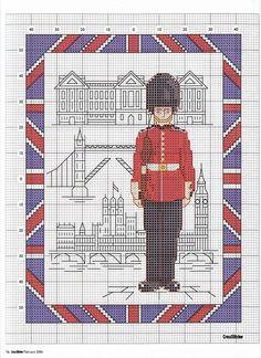 England cross stitch pattern