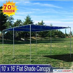 The 10x16 Flat Shade Canopy features a flat roof and mesh top. Our Flat Shade & 10u0027 x 10u0027 Flat Shade Canopy with Sidewalls The 10x10 Flat Shade ...