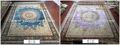 Hand Knotted silk rugs are from Yilong carpet factory.  They are same in design, size and quality, different in the color.Which one do you like better. More information, please contact Ms.Alice Zheng. Email: alice@yilongcarpet.com Whatsapp: 0086 156 3892 7921 www.yilongcarpet.com