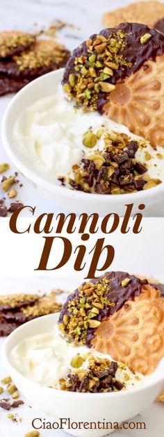 Cannoli Dip / Filling ( Authentic Italian Recipe ) | CiaoFlorentina.com @CiaoFlorentina