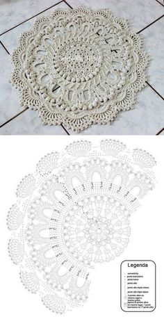 salfetka kover doily albom the best of patricia kristoffersen ltbrgt crochet homeltbrgt crochet rugsltbrgt crochet patternsltbrgt doiliesltbrgt the o - PIPicStats Crochet rug crochet carpet doily lace rug by eMDesignBoutique aa c doilies free This is the Motif Mandala Crochet, Crochet Mat, Crochet Carpet, Crochet Doily Patterns, Crochet Pillow, Crochet Diagram, Crochet Round, Crochet Home, Crochet Designs