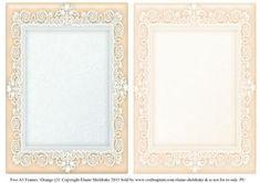 Orange 2 Lace Frames 2 x A5 on Craftsuprint - Add To Basket!