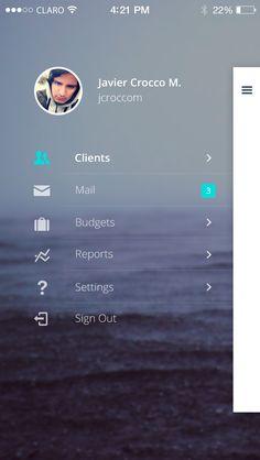 Sperant_Mobile_Sidebar_2.jpg (640×1136) #sidebar #mobile #design #ux #ui #interaction