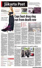 The Jakarta Post - Cops bust drug ring run from death row