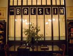 The Breslin - Ace Hotel. Interiors by Roman and Williams, NYC.  Fabulous NYC Pub!
