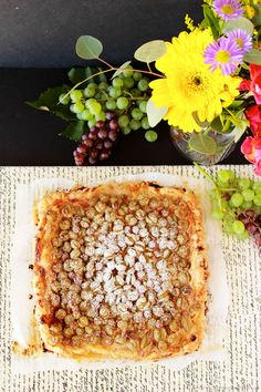 Grape Mascarpone Rustic Tart