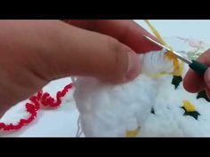 Fırfırlı Puf Çiçekli Yuvarlak Lif Yapımı | El işi Örgü Modeli - YouTube