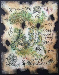 Necronomicon Fragment 028 - Rlyeh Karte