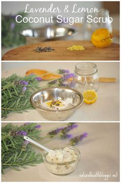 Lavender & Lemon Coconut Sugar Scrub. Winter is starting to set it so, it is time to get into those homemade scrubs again, this lavender and lemon coconut scrub washes away those winter blues and leaves your skin feeling silky smooth.