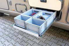 Ordnungssysteme im Wohnmobil: Diese Helfer bringen Ordnung ins Reisemobil (Bildergalerie, Bild 44) - PROMOBIL Ice Cube Trays, Helfer, Drawers, Tips, Shelving, Boxing, Viajes, Ice Makers