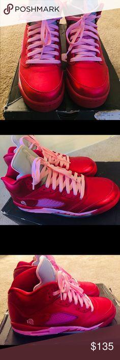 40a2f2f1118 Retro Air Jordan V 5 Valentines Sz 7Y WMN 8.5 New Retro Air Jordan V 5