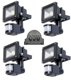 10W LED Fluter Wasserdicht Hellweiß mit Bewegungsmelder. 4 Stück NEU/ Preis pro Stk Led, Motion Detector, Used Cars, Real Estate