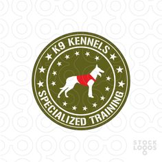 Logo designed for a professional dog obedience training school, specialized in training police and military working dogs used in patrol, security, but also drug and explosive detection. *** Read more info by clicking the link on the image. Agility Training For Dogs, Basic Dog Training, Dog Agility, Badges, K9 Kennels, Puppy Trainer, Stop Dog Barking, Military Working Dogs, Aggressive Dog