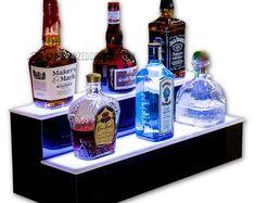 36 Super Ideas For Home Bar Shelf Cabinets Bar Led, Bar Displays, Bottle Display, Gym Decor, Home Icon, Liquor Bottles, Bar Lighting, Bars For Home, Makers Mark
