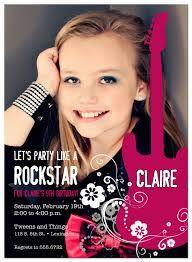 Resultado de imagen para rock star party invitations