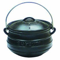 Best Duty Cast Iron Plat (Flat) Potjie Size 2 - Include complementary Lid Lifter Knob ($9,95 value)