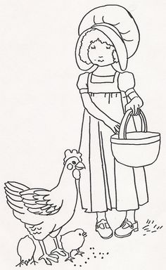 Girl Feeding Chickens1 by JenineMD, via Flickr