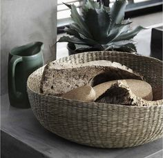Baskets ($13) woven from dried seagrass are designed to stack for | The Quality of Ikea's New Collection Will Blow You Away! | POPSUGAR Home