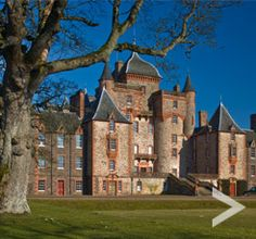 One of the seven 'Great Houses of Scotland', Thirlestane Castle boasts a beautiful fairytale like exterior and dates as far back as the Scotland Castles, Scottish Castles, Scotland Uk, Trinity Library, Castle Ruins, Places To See, Trip Advisor, Celtic, Mansions