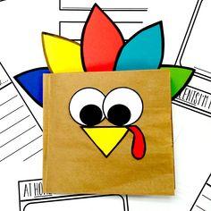 Thanksgiving Thankful For Brown Paper Bag Mini Book Freebie Thanksgiving Classroom Activities, Thanksgiving Books, Thanksgiving Parties, Paper Bag Books, Paper Bag Crafts, Book Crafts, Kids Crafts, Toddler Learning Activities, Preschool Activities