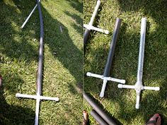 pvc foam swords from @Ashley Ann Campbell kiddos would go nuts over these...