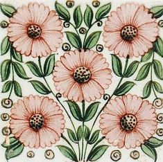 Ideas For Art Nouveau Tiles William Morris Century William Morris, Art Deco Diamond, Diamond Brooch, Art Nouveau Tiles, Decoupage, Decorative Tile, Arts And Crafts Movement, Floral Illustrations, Art Deco Jewelry