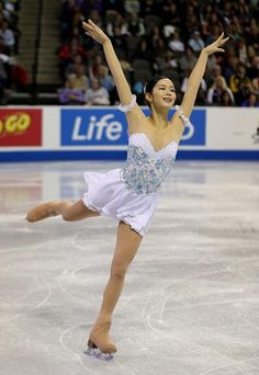 Haruka Imai, Ladies free at Skate America 2014, White Figure Skating / Ice Skating dress inspiration for Sk8 Gr8 Designs
