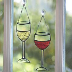 Stained Glass Wine Glasses  (125-0500)