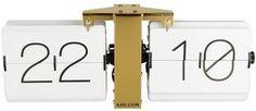 karlsson flip clock black white