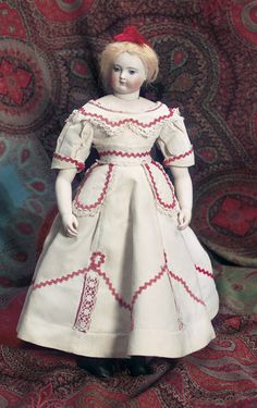 Theriault's Antique Doll Auctions - French Bisque Poupee by Adelaide Huret - circa 1865