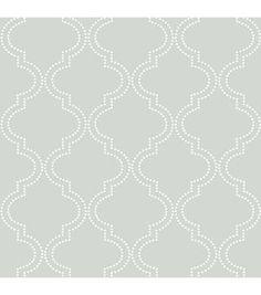WallPops® NuWallpaper™ Grey Quatrefoil Peel And Stick Wallpaper
