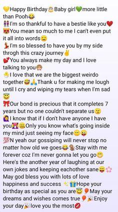 Wish Quotes, Bff Quotes, Happy Birthday Best Friend Quotes, Birthday Wishing Quotes, Birthday Status For Me, Birthday Wishes For Friends, Friendship Birthday Wishes, Birthday Text, Birthday Message